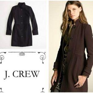 J Crew Double Cloth colleta long line black coat 2